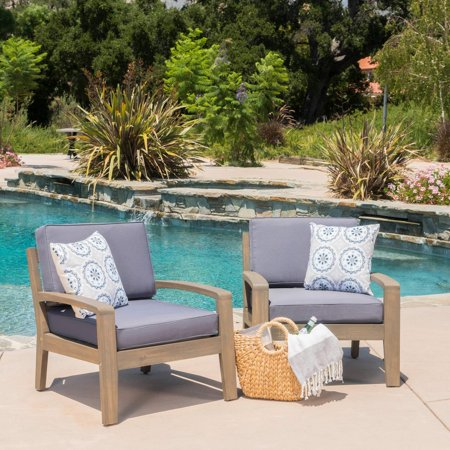 Best Selling (Christopher Knight Home Grenada Outdoor Wooden Club Chair with Cushions (Set of 2))