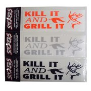 Graphic Designs KILL IT AND GRILL IT with Buck and Duck Vinyl Decal Sticker, 140