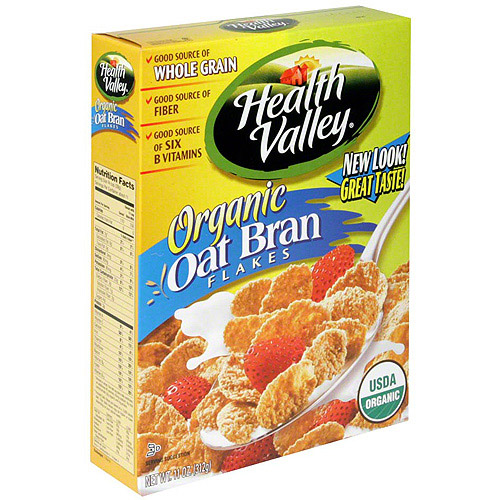 Health Valley Organic Oat Bran Flakes Cereal, 12.65 oz (Pack of 6)