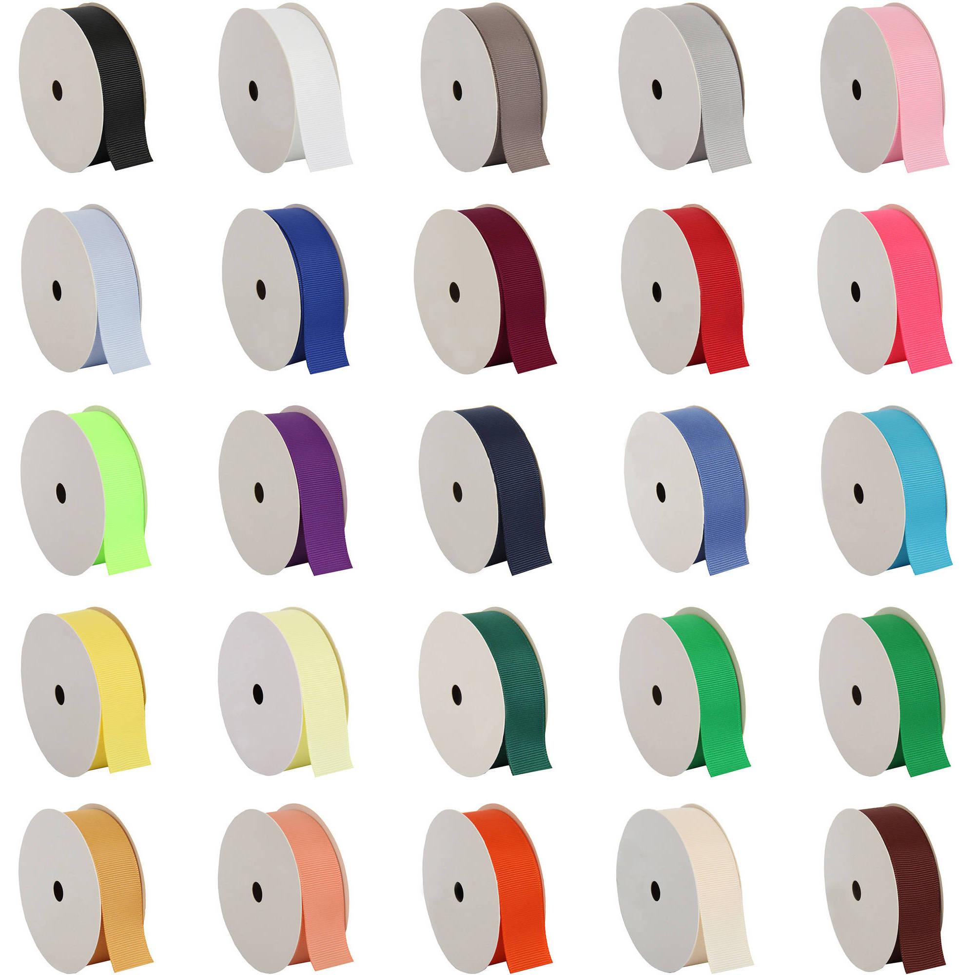 "Threadart Grosgrain Ribbon - 7/8"" Width - 10 yd Roll - 25 Colors"