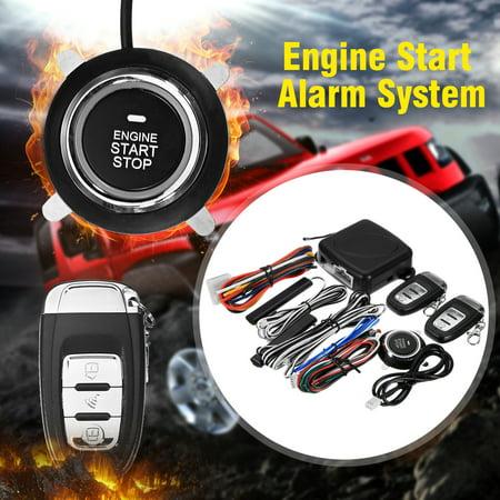 9 PCS Car Alarm Start Security Keyless Entry System Push Button Remote