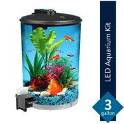 Best Aquarium Lightings - Aqua Culture 3-Gallon 360 View Aquarium Kit Review