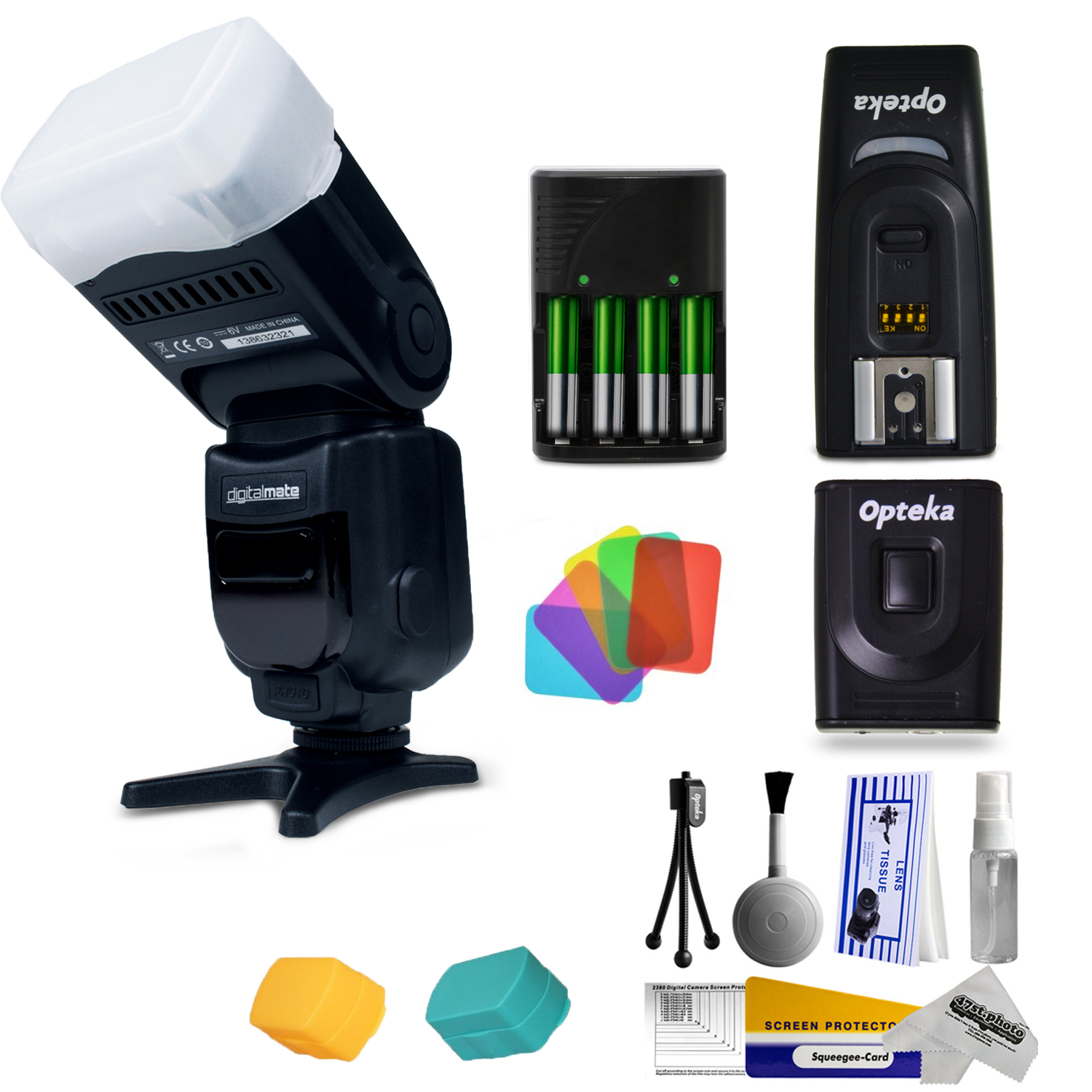 DigitalMate SpeedLight Power Zoom Flash 18-180mm Photo Ki...