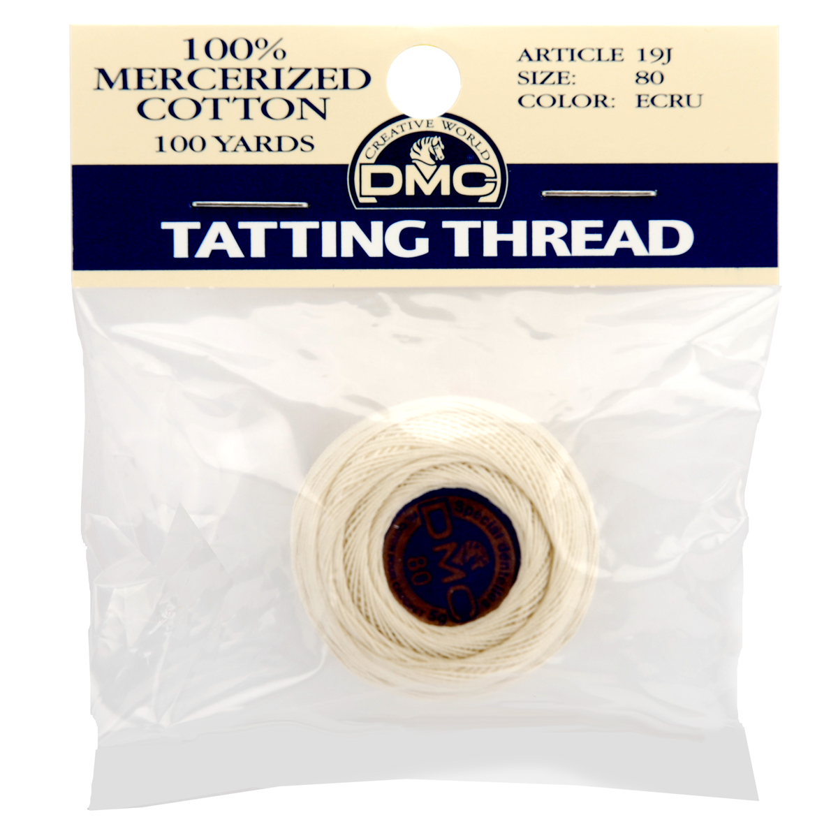 Brilliant Tatting Cotton Size 80 - Packaged-Ecru