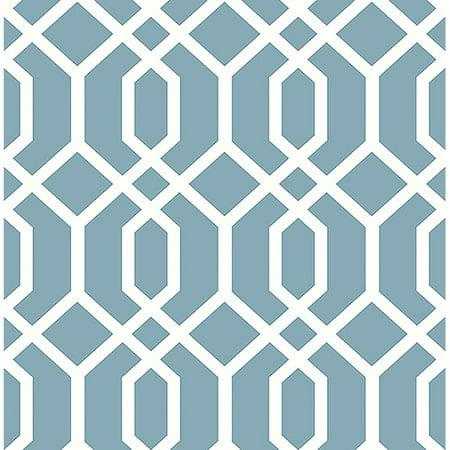 Brewster Trellis Blue Montauk Wallpaper Montauk Blue Apparel