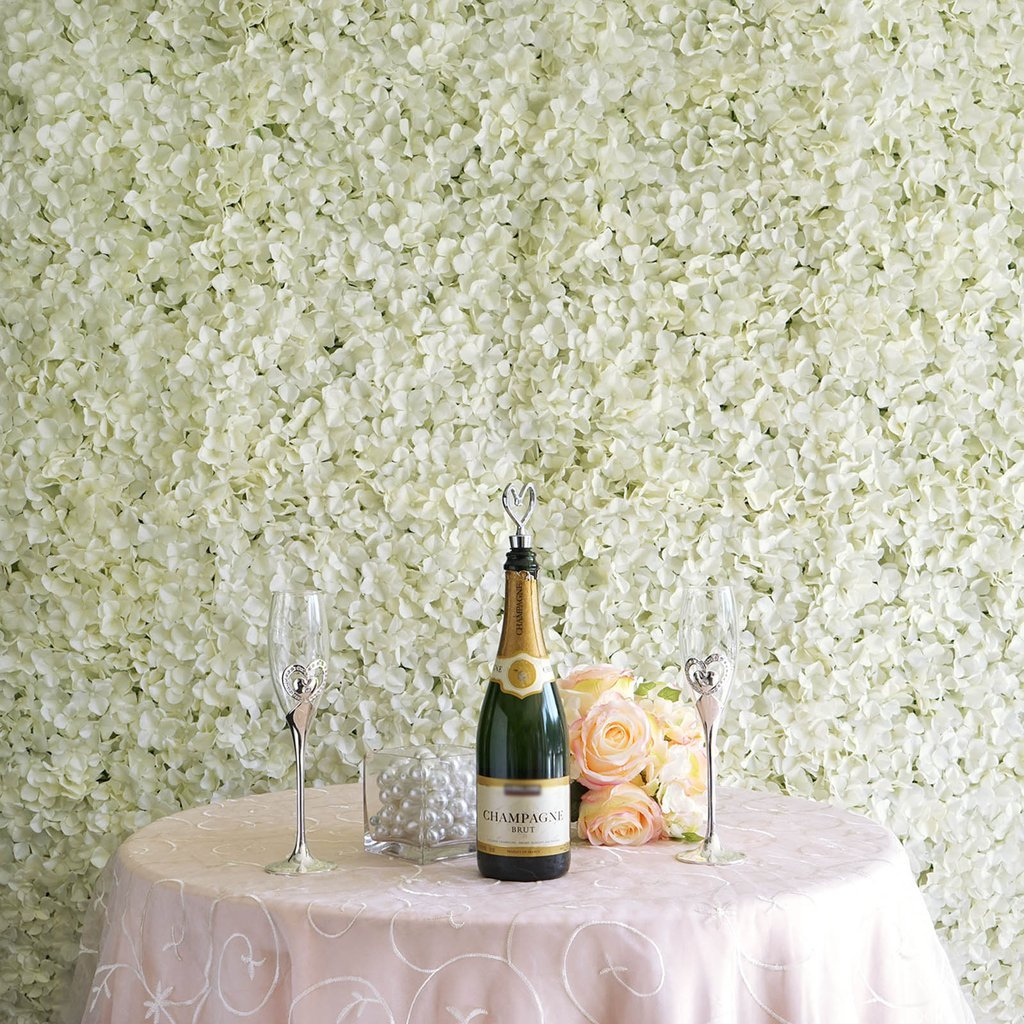 BalsaCircle 4 Silk Hydrangea Flowers Wall Background Wedding Party Photo Booth Artificial Floral Background