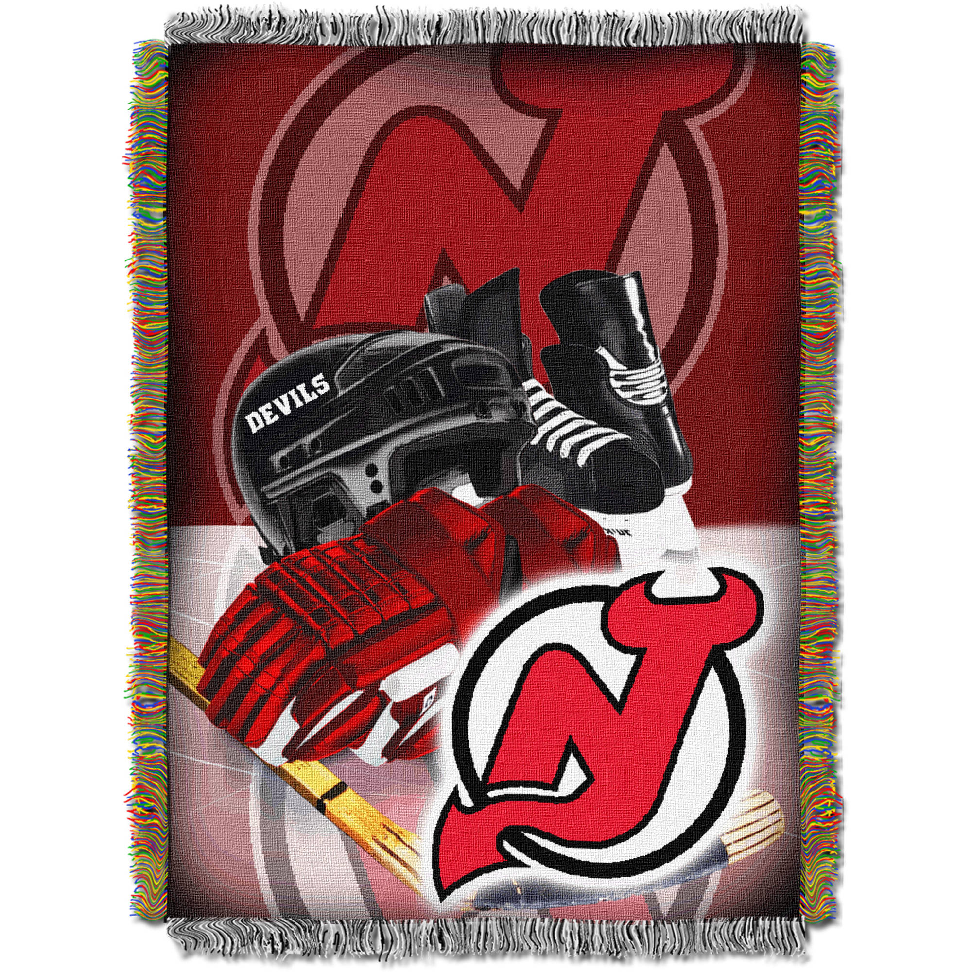 "NHL 48"" x 60"" Home Ice Advantage Series Tapestry Throw, Devils"