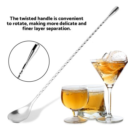 FAGINEY Stainless Steel Bar Wine Cocktail Mixing Twist Spoon Long Handle Drink Stirring Tool - image 1 of 8