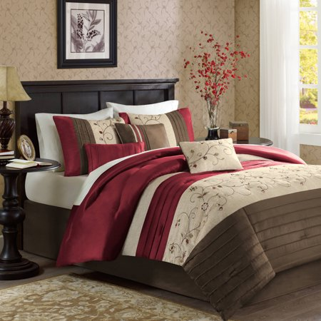 Home Essence Monroe 7 Piece Embroidered Comforter