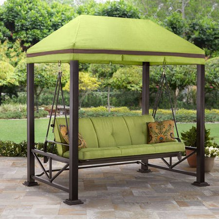 Better Homes Gardens Sullivan Pointe Gazebo Porch Swing Bed Seats