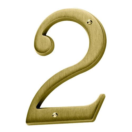 Baldwin  90672  Address Numbers  House Number  Home Accents  2  ;Satin Brass