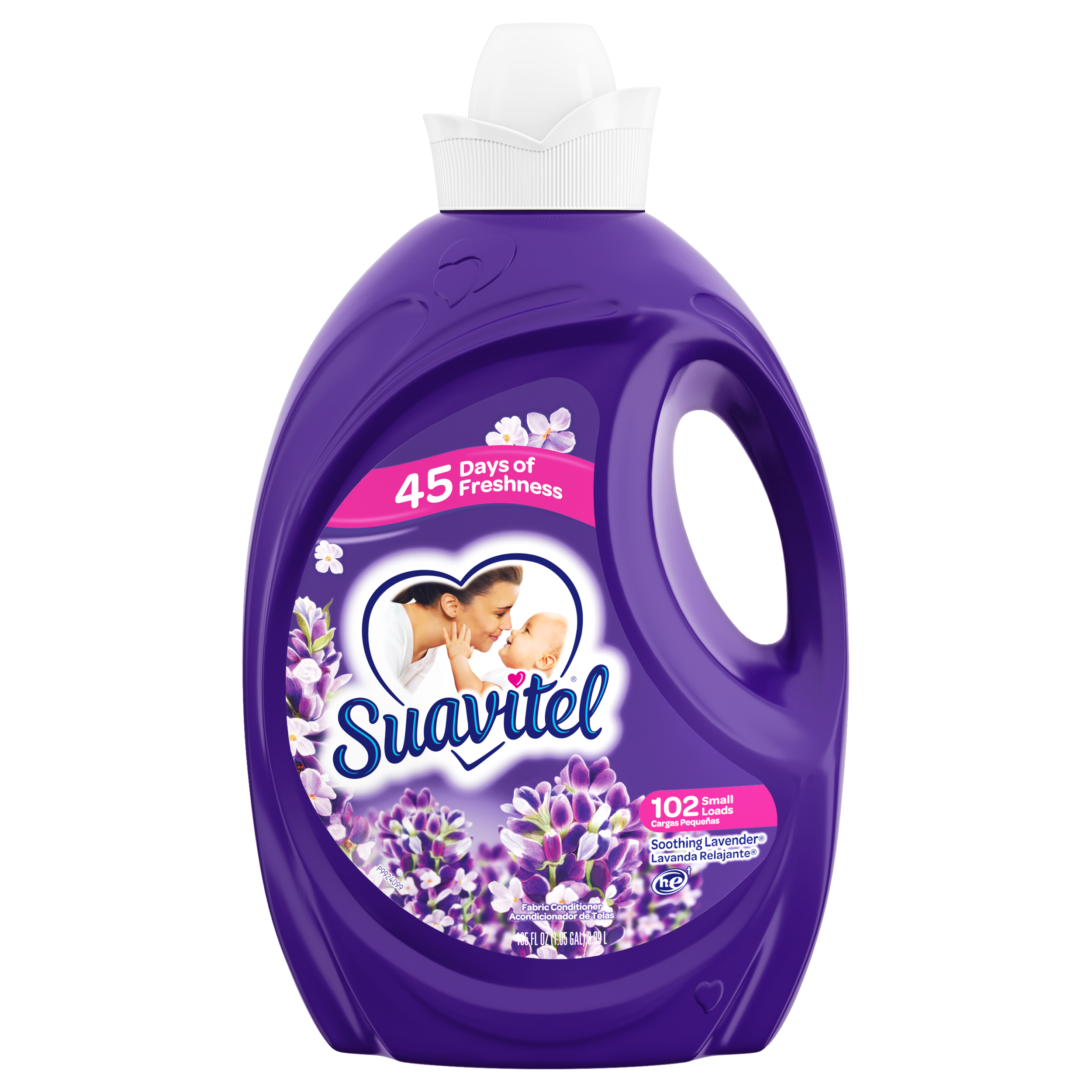 Suavitel Soothing Lavender Fabric Conditioner, 92 Small loads, 135 fl oz