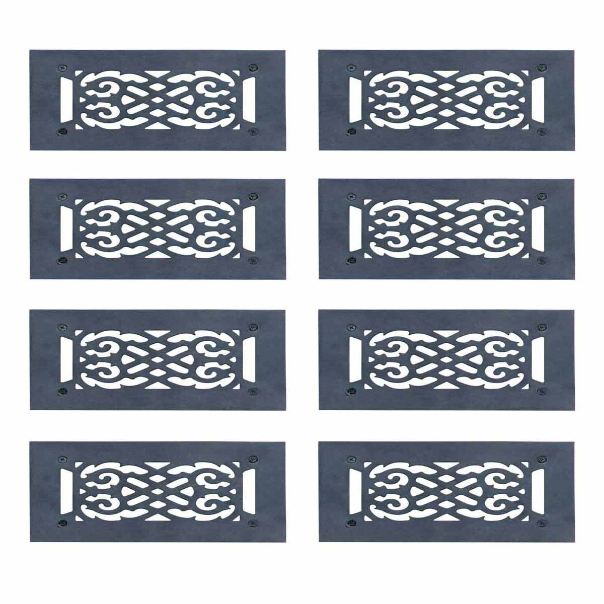 """8 Heat Air Grille Cast Victorian 5.5"""" x 10"""" Overall 