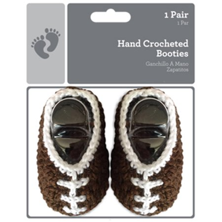 471c848919 Newborn Baby Crochet Football Booties - Walmart.com