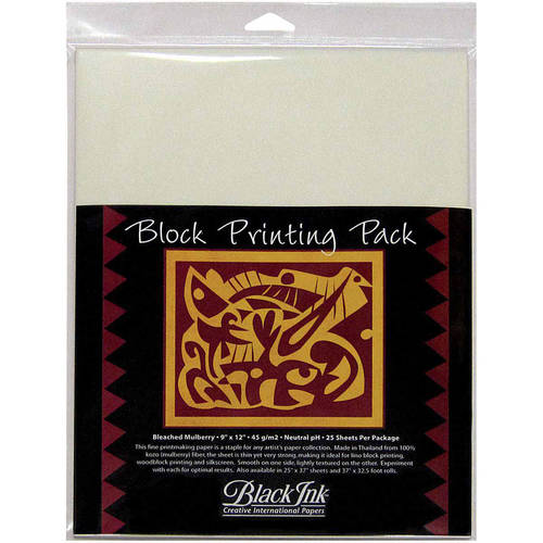 Block Printing Paper Pack By Black Ink Papers