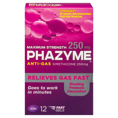 Phazyme Maximum Strength Gas and Bloating Relief, 250 mg, 12 FAST -