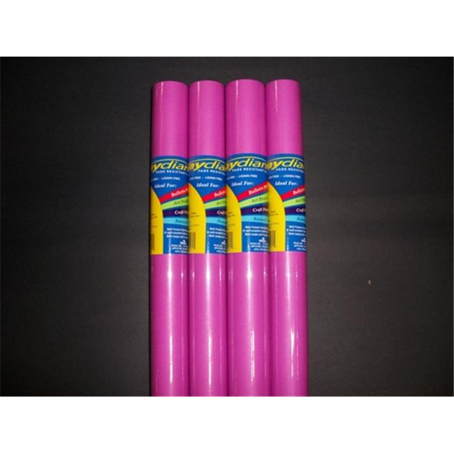 RiteCo Raydiant 80167 Riteco Raydiant Fade Resistant Art Rolls Magenta 48 In. X 50 Ft. 4 Pack