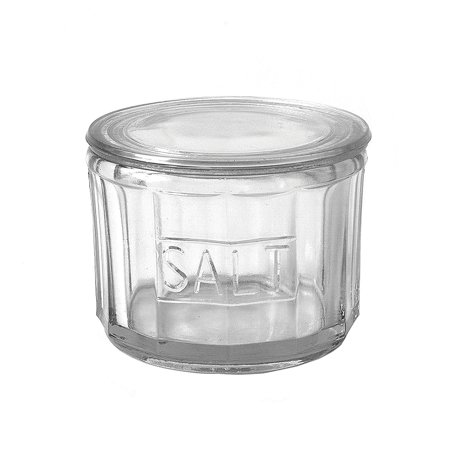 Co Cellars (Creative Co-op Round Pressed Glass Salt Cellar, Clear, From the Casual Country Collection By Creative Coop )