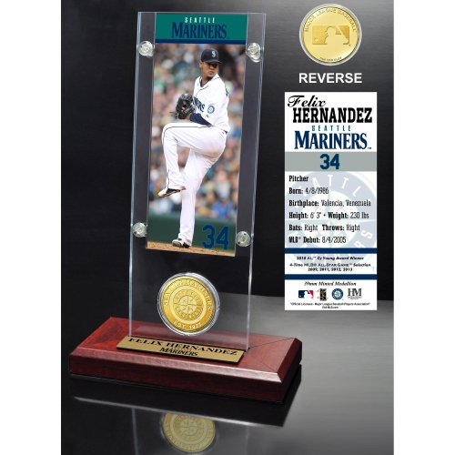 Seattle Mariners Felix Hernandez 2015 Player Ticket & Coin - No Size