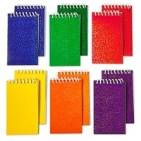"""Spiral Prism Notepads - 2.25"""" X 3.5"""" 20 Pages Each - Pack Of 12 - Assorted Colors Mini Spiral Bound Memo Pad, Pocket Size - For Kids Great Party Favors, Bag Stuffers, Fun, Gift, Prize - By Kidsco"""