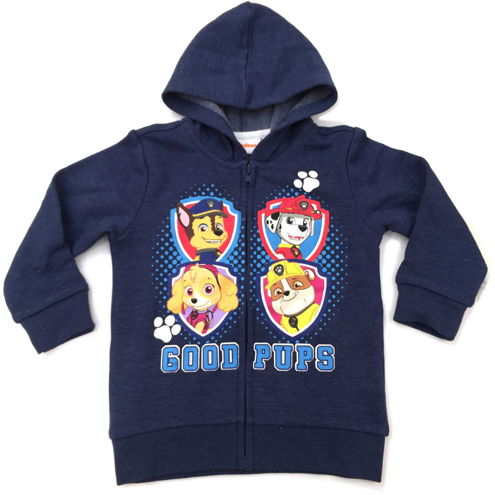 Paw Patrol Toddler Boy Good Pups Fleece Zip Hoodie