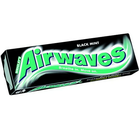 Wrigley's Airwaves Sugarfree Gum - Black Mint (10 per pack x 5)