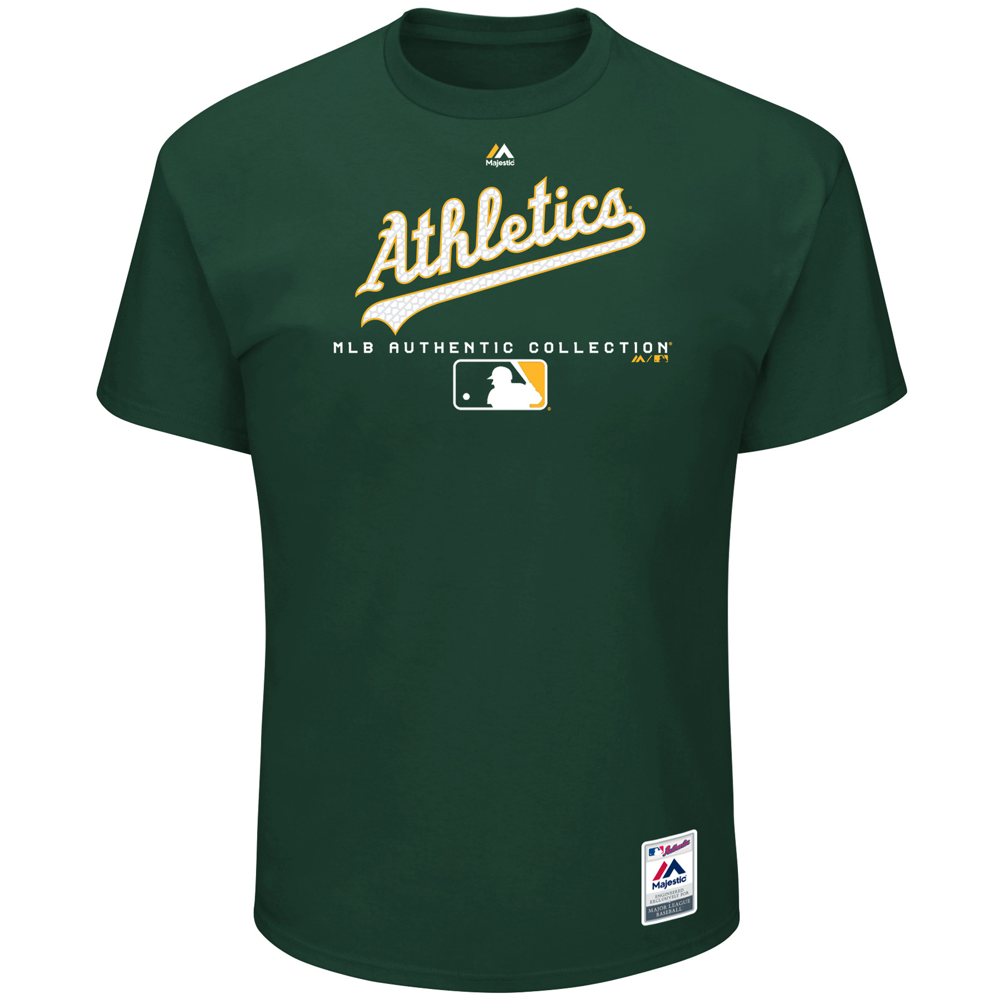 Oakland Athletics Majestic Authentic Collection Team Drive T-Shirt - Green