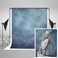 MOHome Polyster 5x7ft Photo Backdrops for Photographers Retro Solid Light Blue Background Photography Props Studio Digital Printed Backdrop