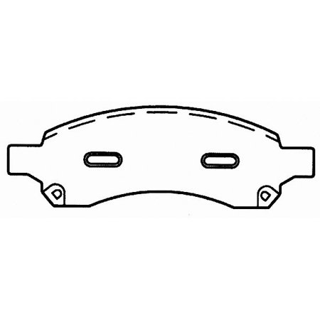 Go-Parts OE Replacement for 2006-2009 GMC Envoy Front Disc Brake Pad Set  for GMC Envoy