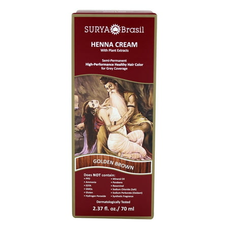 Surya Brasil - Henna Cream Hair Coloring with Organic Extracts Golden Brown - 2.37 oz.
