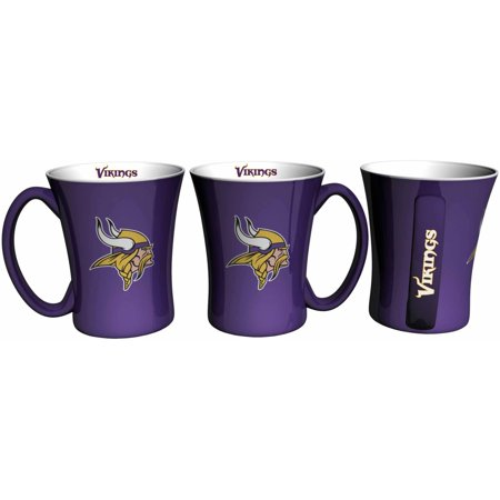 Boelter Brands NFL Set of Two 14 Ounce Victory Mugs, Minnesota Vikings by