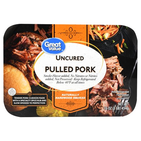 Great Value Uncured Pulled Pork, 16 Oz.