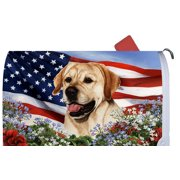 Yellow Labrador - Best of Breed Patriotic I Dog Breed Mail Box Cover