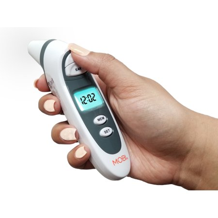Dual Scan Prime Ear and Forehead Digital Thermometer with Memory recording and Food Bottle (Dual Digital Thermometer)