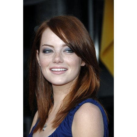 Emma Stone At Arrivals For Premiere Of The Pineapple Express MannS Village Theatre In Westwood Los Angeles Ca July 31 2008 Photo By Michael GermanaEverett Collection Photo Print ()
