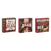 Cape Craftsmen Life at the Lodge Wooden Signs, Set of 3