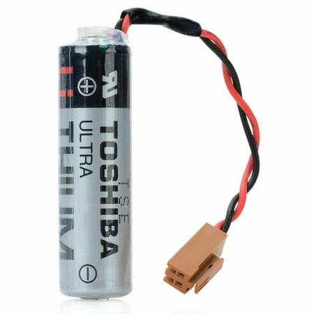 1pcs TOSHIBA ER6V/3.6V 2400mAh PLC Battery for Mitsubishi M64 System with Plug