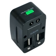 QVS Premium World Power Travel Adaptor Kit with Surge Protection