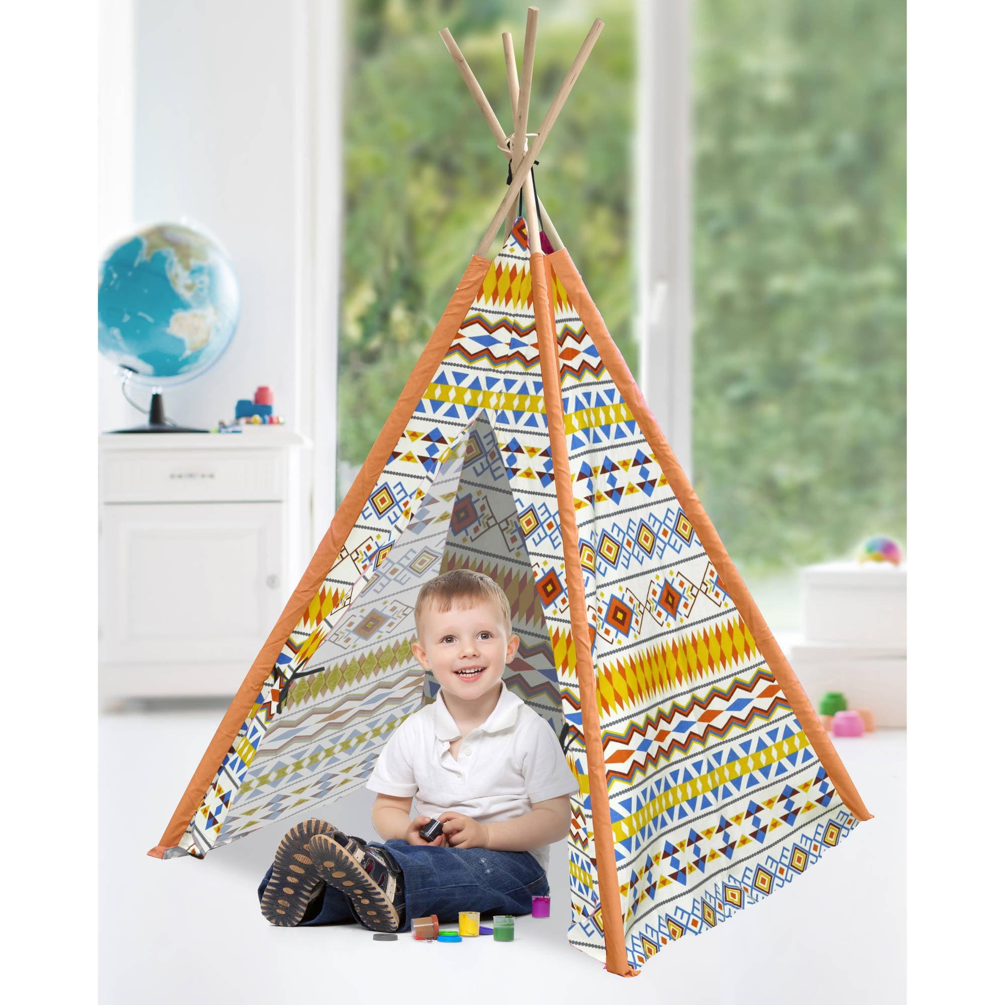 American Kids Tee-Pee Play Tent, Tribal Aztec
