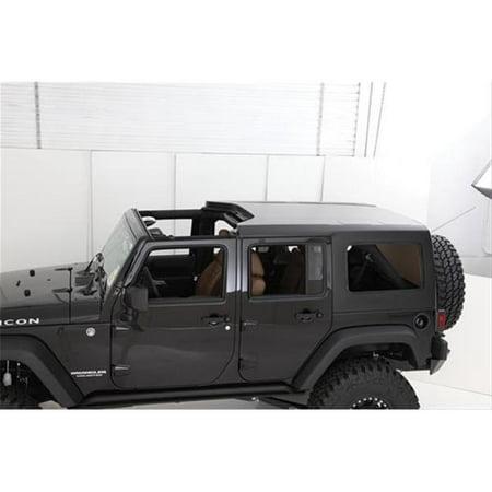 smitty bilt 581035 2007-2013 jeep wrangler cargo restraint system, 4 door - black diamond