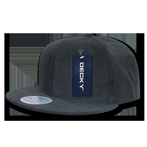b554ff58c DECKY Corduroy Snapback Retro Constructed Hats Hat Caps Cap For Men Women  Charcoal