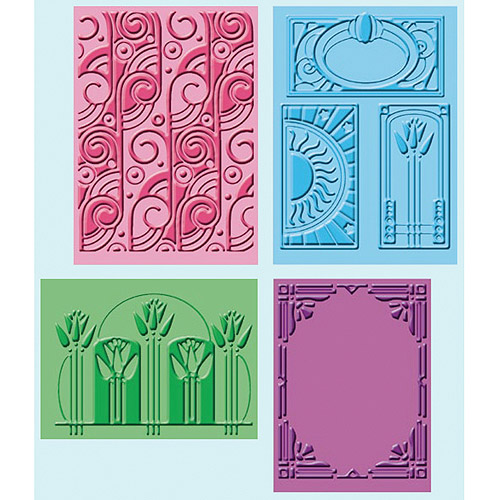 Provo Craft Cuttlebug Embossing Folders, Art Deco, 4/pkg
