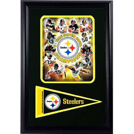 NFL Pittsburgh Steelers Champions Pennant Frame, 12x18