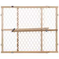 North States 4604 Security Gate  26 1 2   42 In 23 In H  Hardwood Frame Diamond Mesh Panel