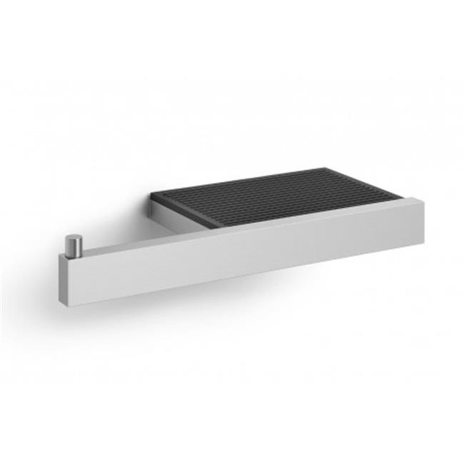 Zack 40376 Linea Toilet Roll Holder With Shelf Wall Mount