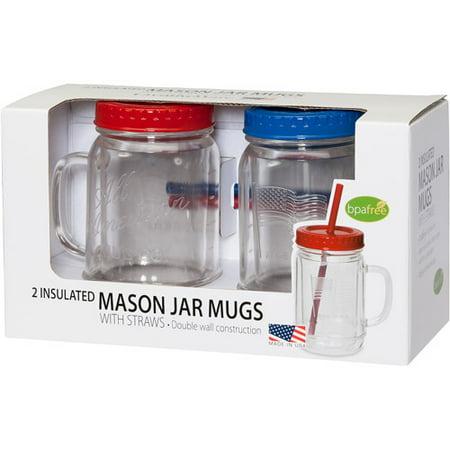 Clear Mason Jar, 2-Pack