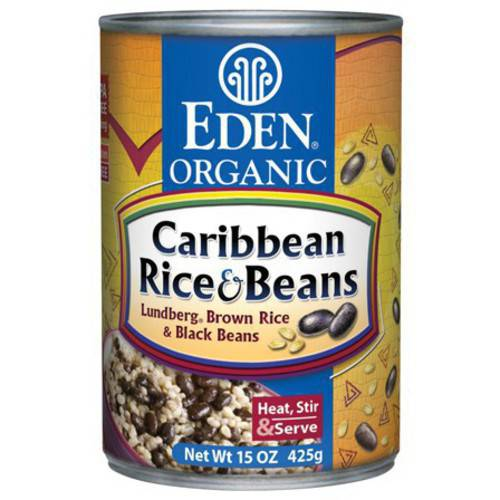 Eden Caribbean Rice & Black Beans, Organic, 15 Ounce (Pack of 6) by