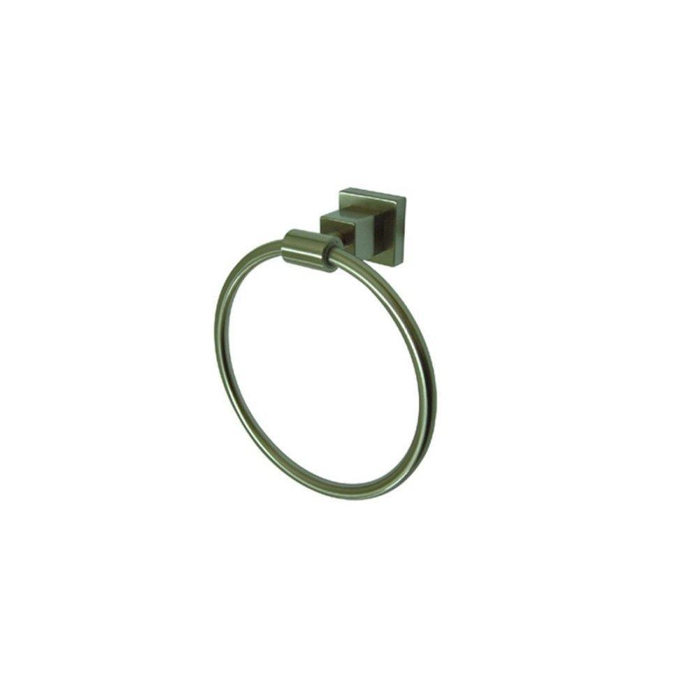 kingston brass bah8644sn claremont 6-inch towel ring, satin nickel