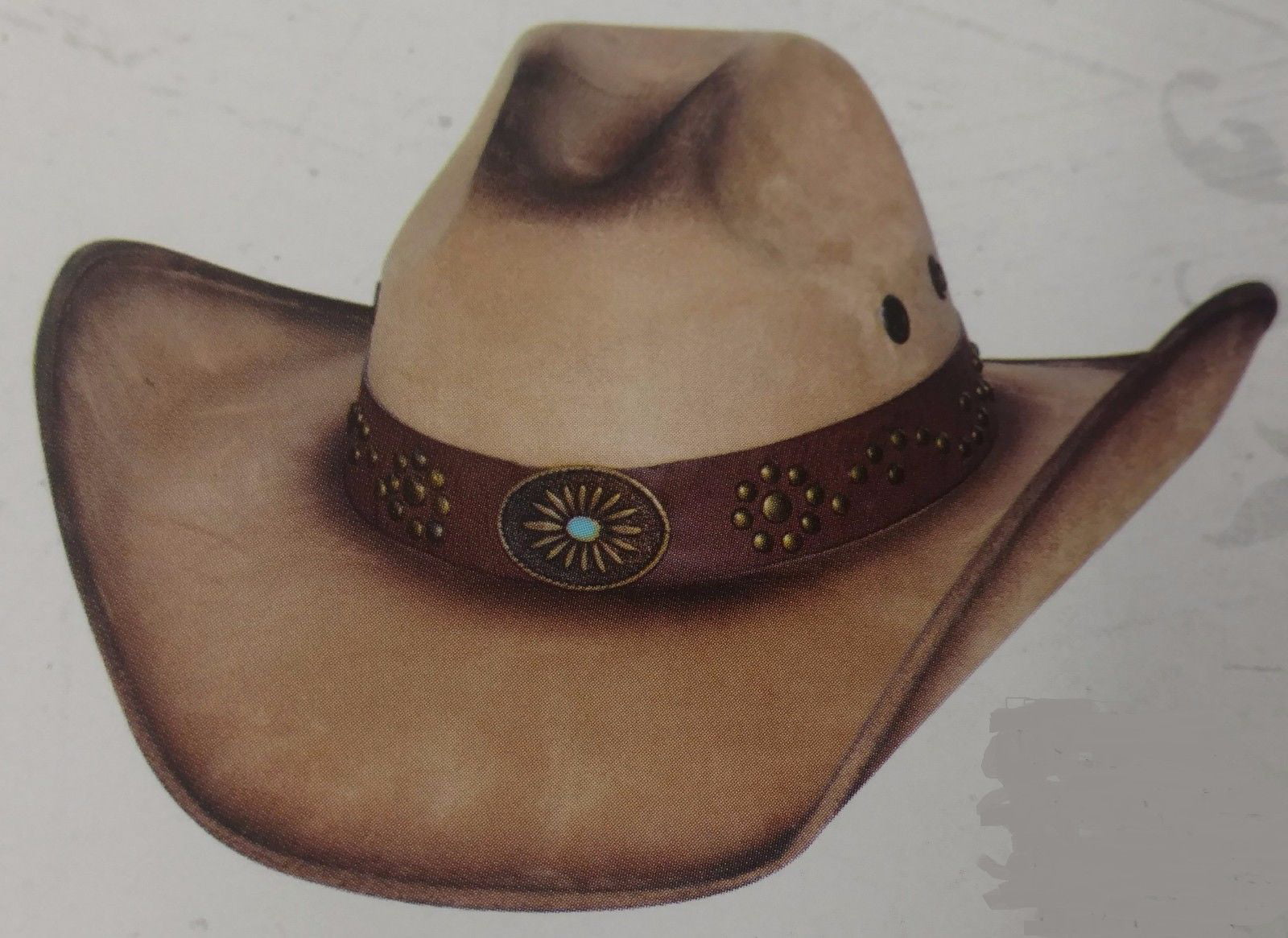 New Bullhide Rusty Hope Golden Leather Women/'s Hat 4068