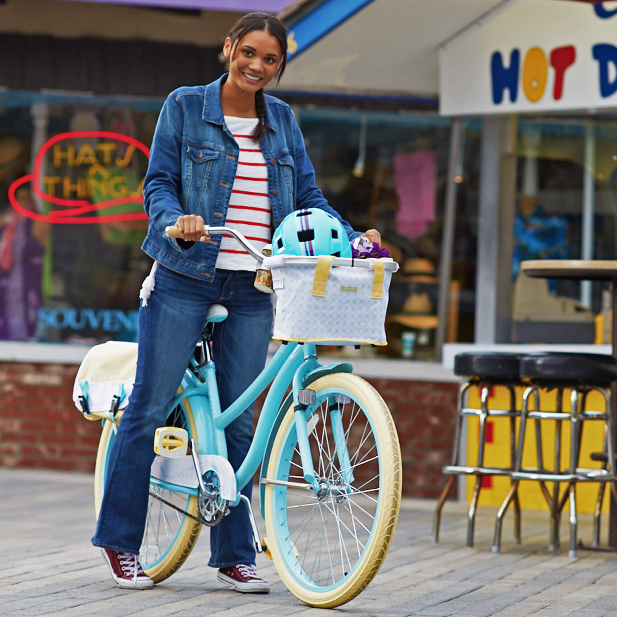 "Click here to buy Huffy 26"" Marietta Women's Cruiser Bike with Perfect Fit Frame, Blue by Huffy."